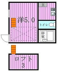 東京都足立区足立2丁目の賃貸アパートの間取り