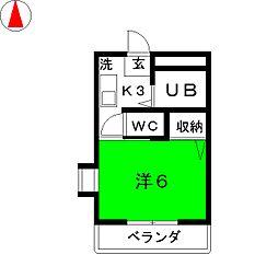 カーサさくら[2階]の間取り