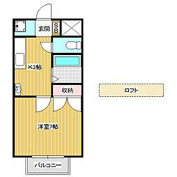 ハイツAlba A[2階]の間取り