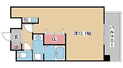 兵庫県神戸市中央区二宮町の賃貸マンションの間取り