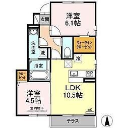 D−room南吉田(仮)[A101 号室号室]の間取り