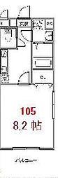 ブリリアント大木II[105号室号室]の間取り