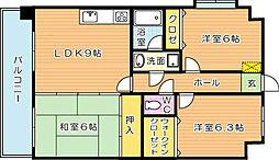 オロマーレ折尾南II[8階]の間取り