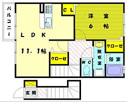 デフィFDH[2階]の間取り