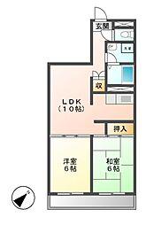 神奈川県川崎市宮前区平5丁目の賃貸マンションの間取り