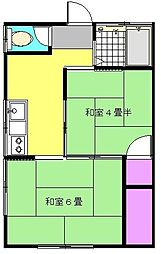 花園コーポ[1階]の間取り