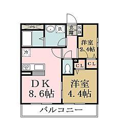 リブリ・KASUGA[201号室]の間取り