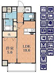 EDIFICE NANA[5階]の間取り