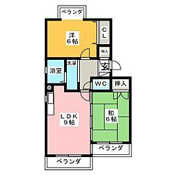 マンションサンライズ[2階]の間取り