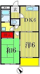 千葉県松戸市稔台7丁目の賃貸マンションの間取り