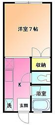 サンパーク鶴川[1階]の間取り