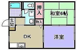 サザンハイム[1階]の間取り