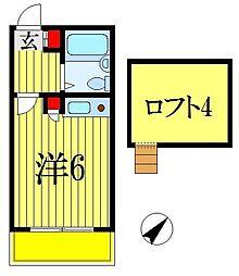 千葉県船橋市南海神1丁目の賃貸アパートの間取り