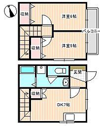 山口県下関市大字勝谷の賃貸アパートの間取り