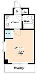 ローズガーデンA78番館[2階]の間取り