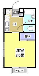 静岡県浜松市中区鴨江3丁目の賃貸アパートの間取り