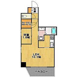 リアン シエルブルー 東比恵 II[5階]の間取り