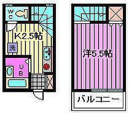 クレスト喜沢[5号室]の間取り