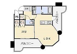 ロイヤルセンターBLD[203号室]の間取り