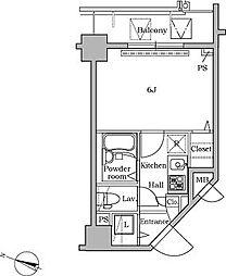 レジディア広尾II[11階]の間取り