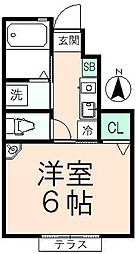 プレジール万願寺[1階]の間取り