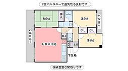 福岡県糸島市前原東2丁目の賃貸マンションの間取り