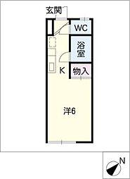 ファミールタカシ[2階]の間取り