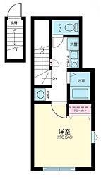 東京都大田区下丸子3丁目の賃貸アパートの間取り