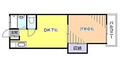 東京都小平市学園西町2の賃貸アパートの間取り