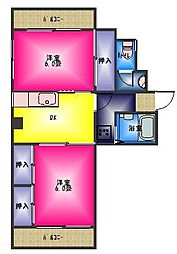 扇屋ビル[4階]の間取り
