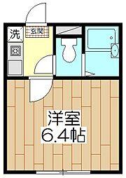 オペラシオンボヌール竹の塚[104号室]の間取り
