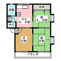 コーポモリモト[2階]の間取り
