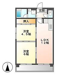 第3三鈴ビル[1階]の間取り