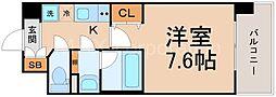レジュールアッシュJUSO[3階]の間取り