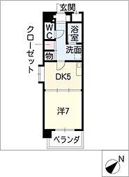 K'sガーデン[6階]の間取り