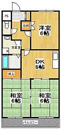 原第5マンション[105号室]の間取り