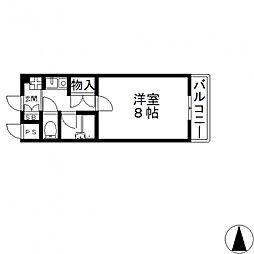 ヴィガ中央長田[607号室号室]の間取り