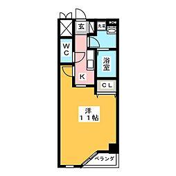 プラネット南岡崎[3階]の間取り