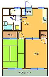 横川田口ハイツ[105号室]の間取り