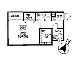 MT六会[2階]の間取り