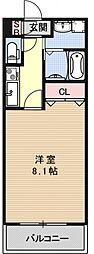 サクシード伏見京町[107号室号室]の間取り