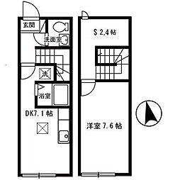 JR東北本線 郡山駅 バス25分 大林下車 徒歩6分の賃貸アパート 1階1SDKの間取り