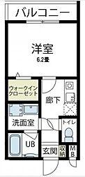 神奈川県相模原市緑区東橋本2丁目の賃貸アパートの間取り