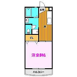 福島県郡山市日和田町の賃貸アパートの間取り