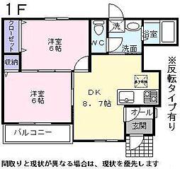 滋賀県彦根市大堀町の賃貸アパートの間取り