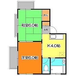 サンハイツ[1階]の外観