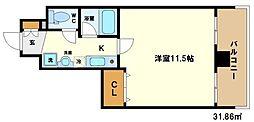 レジュールアッシュ梅田イースト[3階]の間取り