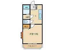 コンフォート高崎[203号室]の間取り