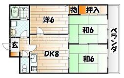 ロイヤルハイツ明石[6階]の間取り