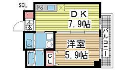 ヒマワリマンション 1階1DKの間取り